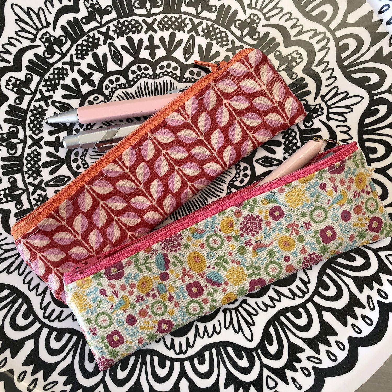 Stifte Täschchen aus kokka Wachstuch