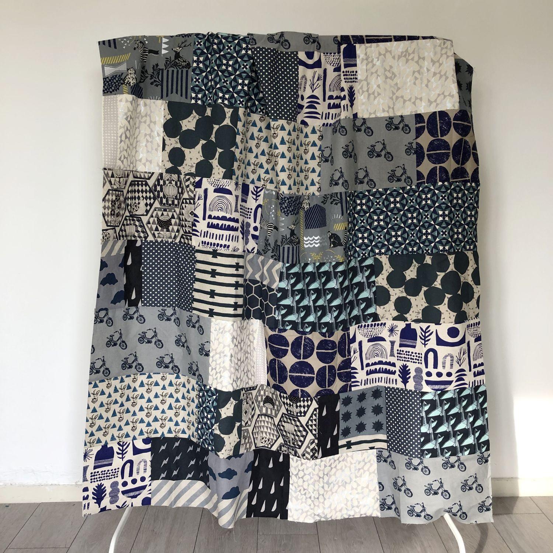 patchworkdecke nähen aus stoffresten