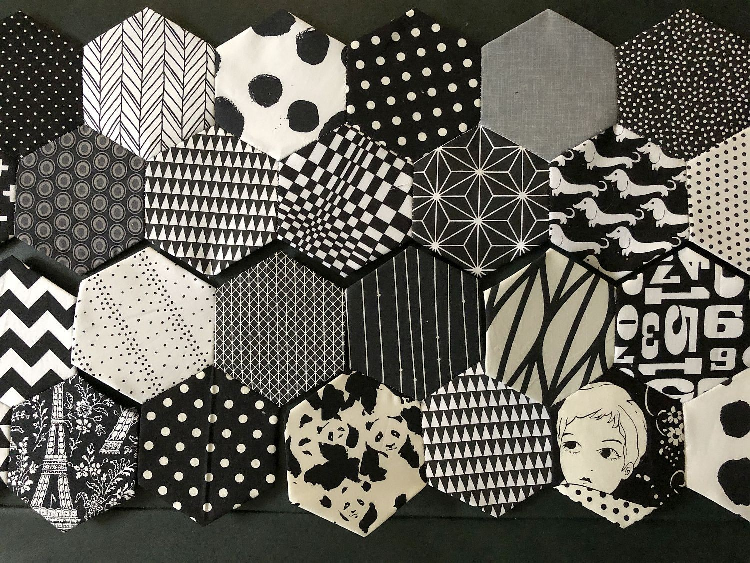 Patchwork aus Hexagons