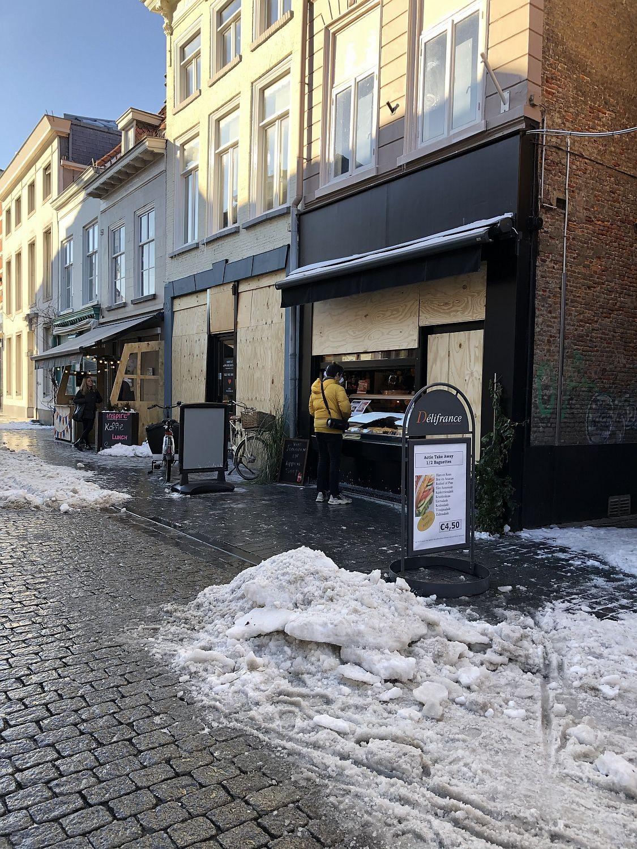 verbarrikadierte läden in den niederlande