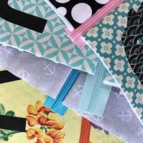 Täschchen mit Reißverschluss in vielen Designs