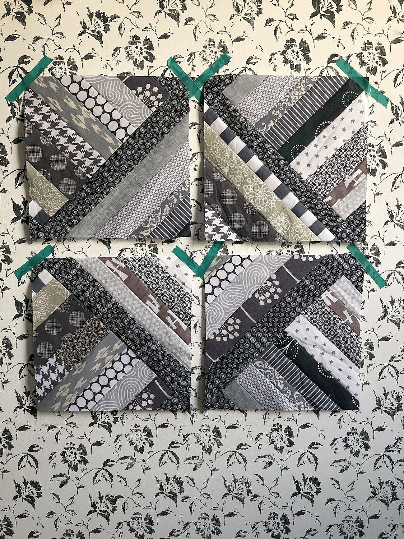 Patchwork mit Stoffstreifen - Patchworkdecke nähen