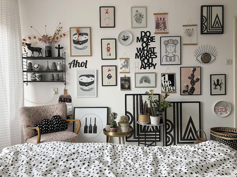 Gallerywall im Schlafzimmer - Make-Over