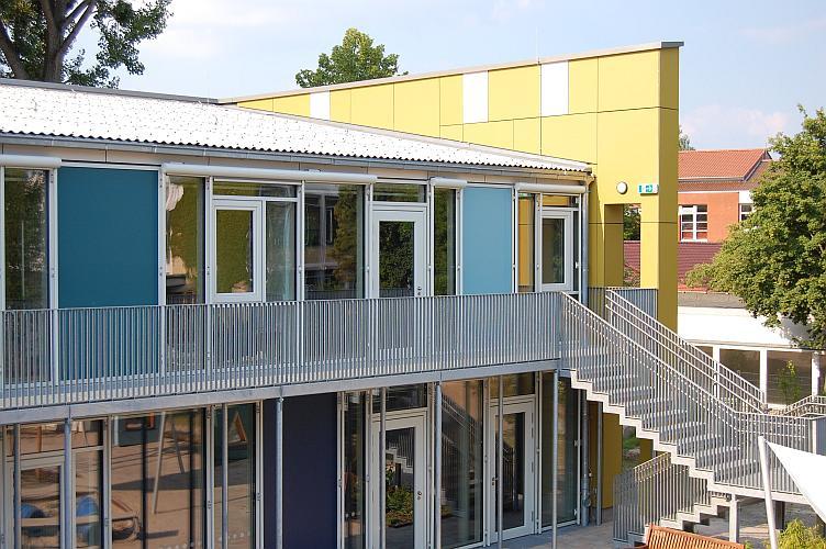Von proKlima geförderte Passivhaus-Kita an der Ricklinger Straße im Stadtteil Hannover-Linden (Foto: proKlima/Glombik)