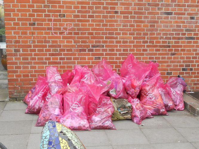 70 Säcke Müll gesammelt