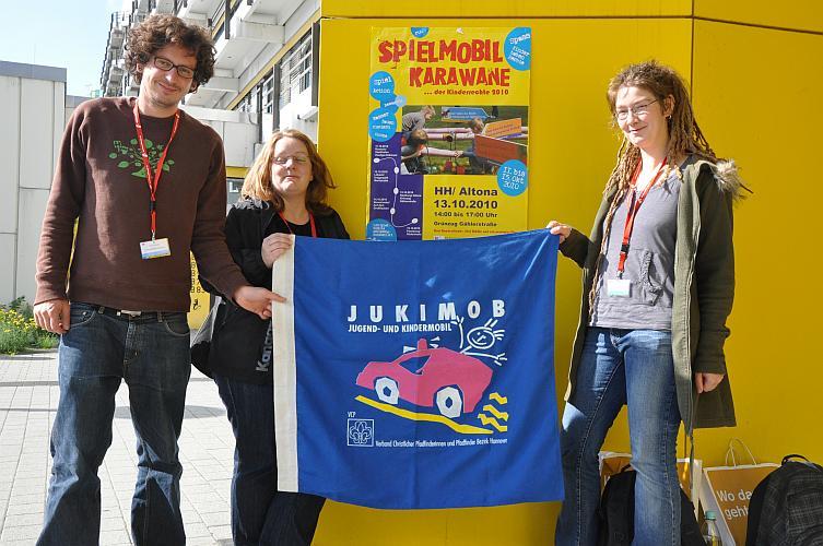 Das Jukimob Team: Julia Schewe, Alexandra Zaminer und Tim Uredat