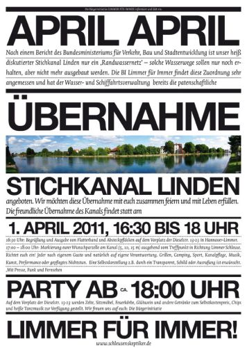 Übernahme Stichkanal Linden