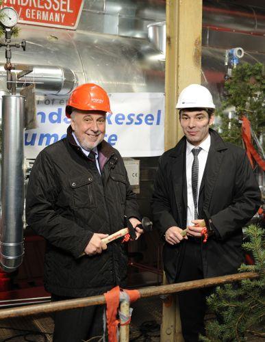 enercity-Vorstandsvorsitzender Michael G. Feist und der Geschäftsführer der Standardkessel GmbH, Jörg K. Klasen
