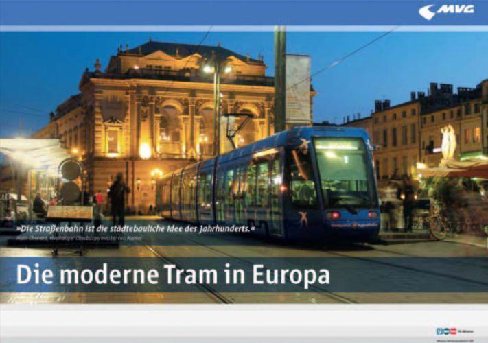 Die Straßenbahn in Montpellier: blau wie der südfranzösische Nachthimmel; das Titelmotiv der Ausstellung (Bild: Viennaslide)