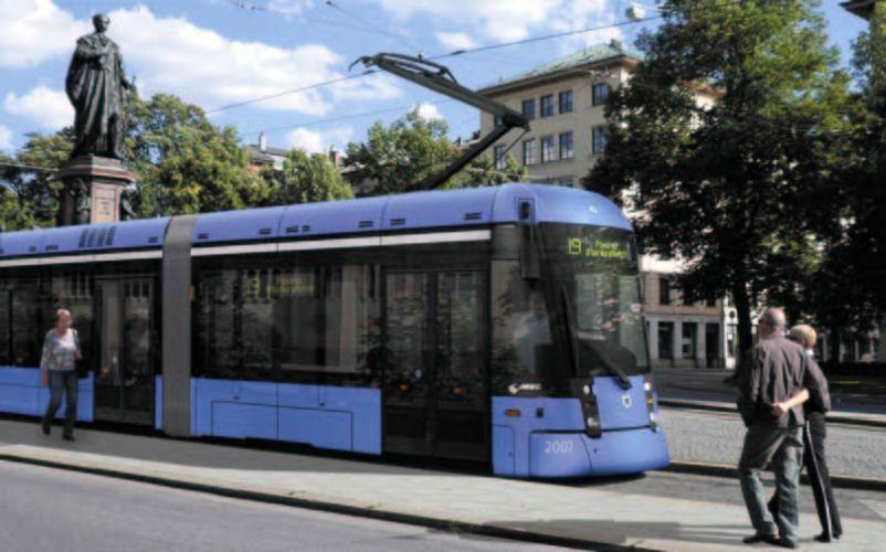 Die Variobahn – der neueste Tramtyp für München (Bild: Ergon3).