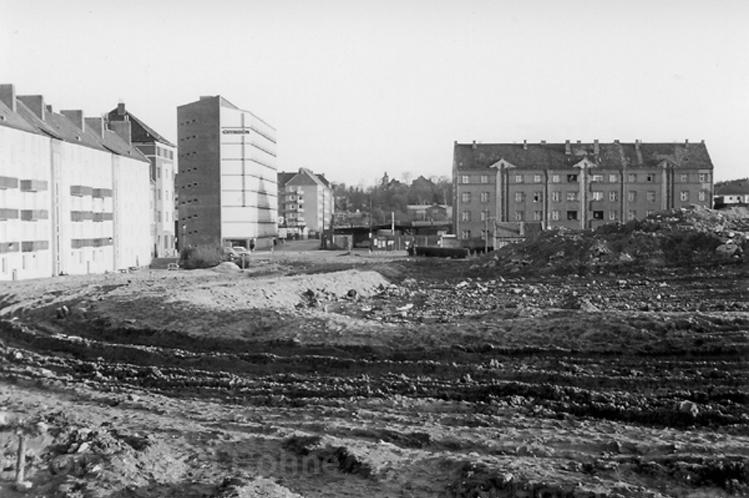 Bau des Westschnellweg 1961 (Foto: Horst Bohne)