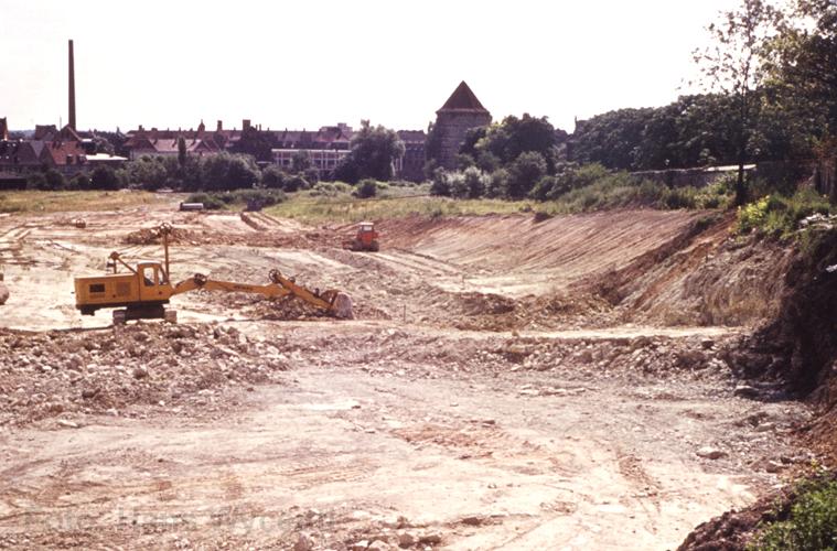 Bau des Westschnellweg 1961  (Foto: Hans Wycenti)
