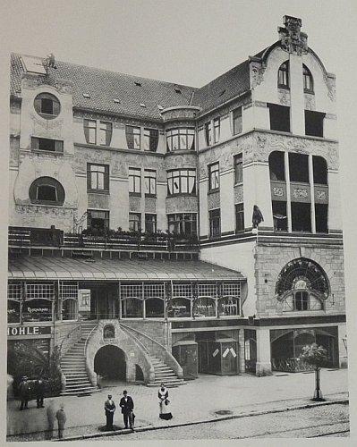 Das Jugendstilgebäude am Schwarzen Bären im Jahre 1903 (Wettbewerbsbeitrag aus der Sammlung von Gert Schmidt)