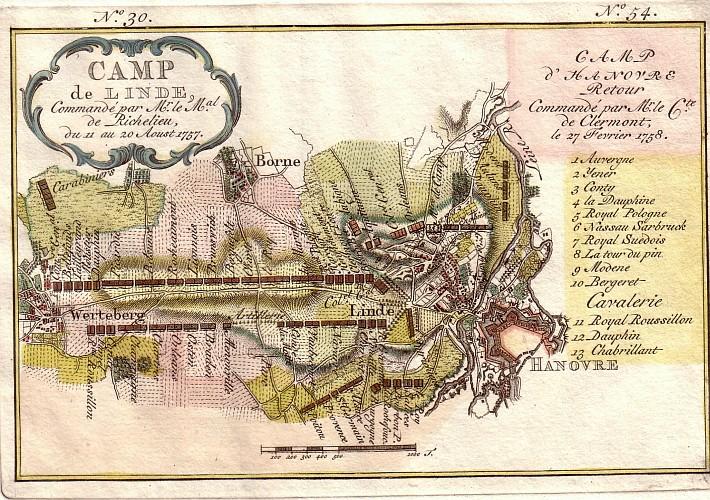 """Kupferstich """"Camp de Linde"""" aus der Sammlung von Jürgen Wessel"""