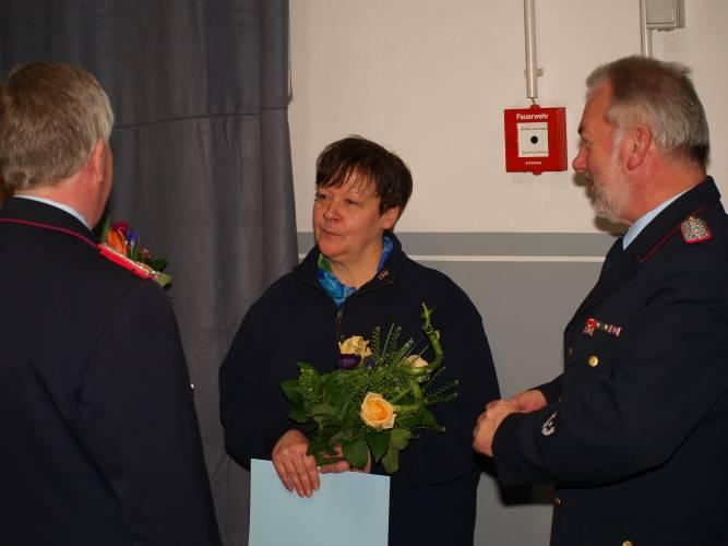 Auch Susanne Matthias wurde für 25 Jahre Passive und Fördernde Mitgliedschaft geehrt