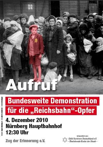 Demo für die Opfer der Reichsbahn