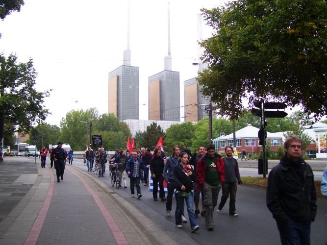 Demonstrationszug aus Linden