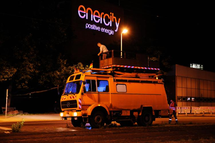 Schornsteintransport durch Linden (Foto: enercity)