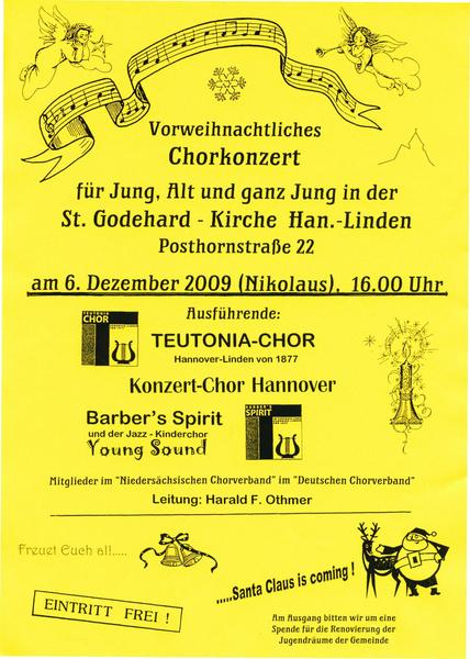 Vorweihnachtliches Chorkonzert