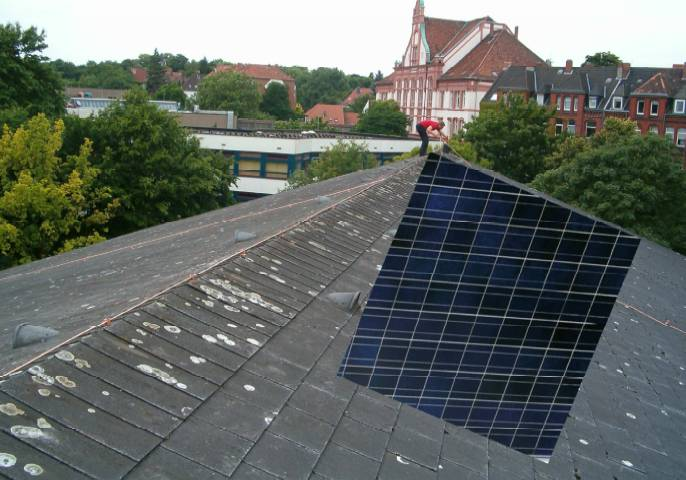 Solaranlage auf dem Kirchendach?
