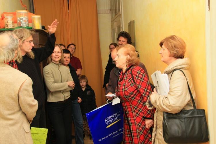 Frau Dreyfuß zu Besuch im Haus Schwarzer Bär 6 (Bild: Markus Golletz)