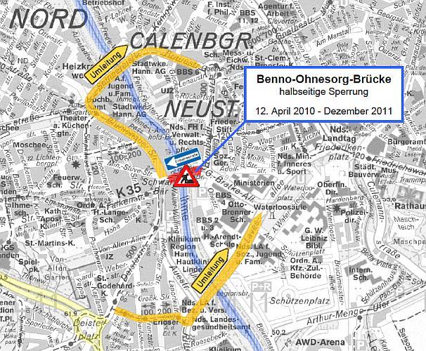 Umleitung Benno-Ohnesorg-Brücke