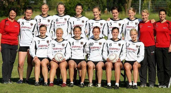 Die deutsche Faustball-Nationalmannschaft der Frauen