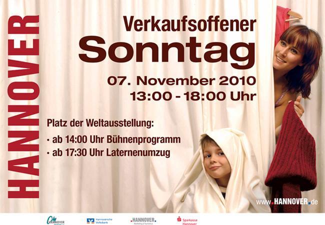 Verkaufsoffener Sonntag in Hannover 07.11.2010