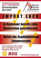 Wahlplakat des BSG