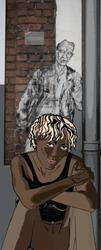 Emmanuelle Tanais Aupest, 'Dans les rues de Brême il y a des gens qui traînent' , Digitalcollage 2011