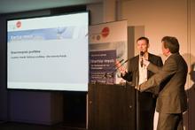 proKlima-Geschäftsführer Harald Halfpaap bei der Preisverleihung zum Vorjahreswettbewerb