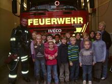 Hortkinder bei der Feuerwehr