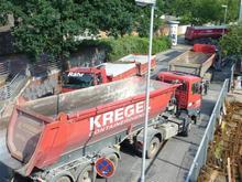 LKW Verkehr in der Glockseestraße