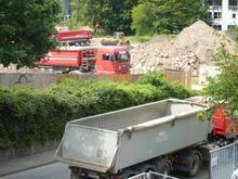 Abgrabungsarbeiten zum Hochwasserschutz