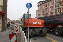 Immer noch nicht fertig: Baustelle Schwarzer Bär / Benno-Ohnesorg-Brücke