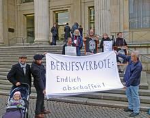 Protestaktion vor dem niedersächsischen Landtag