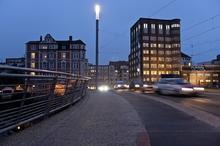 LED Beleuchtung auf der Benno-Ohnesorg-Brücke (Bild: enercity)