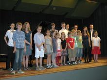 Klavierklasse der Musikschule
