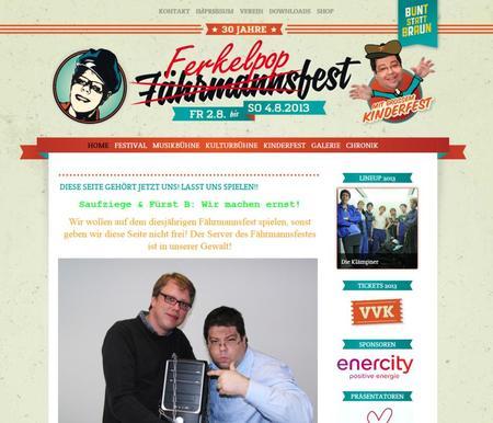 Leicht modifizierte Fährmannsfest Webseite
