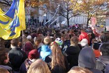 Bildungsdemo vor dem Landtag