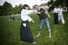 Kampfkunst im Park