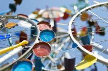 Bunte Recyclingmaterialien
