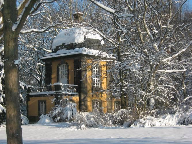 Küchengartenpavillon im Winter