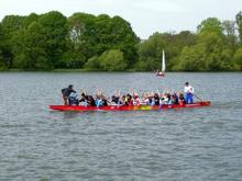 Drachenboot beim Training