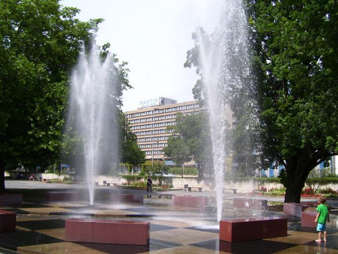 Bahlsen Brunnen auf dem Trammplatz