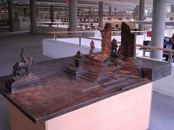 Modell der späteren Skulptur