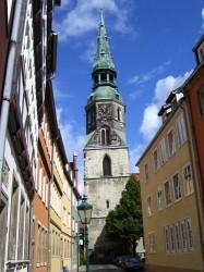 Blick vom Ballhof zur Kreuzkirche