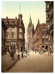 Blick auf die Marktkirche um 1895