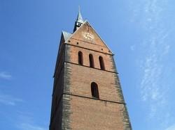Turm der Marktkirche (mit Wetterhahn 98 m)