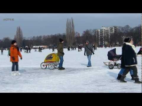 Maschsee Winter Eiszeit Party in Hannover Winter 2012.
